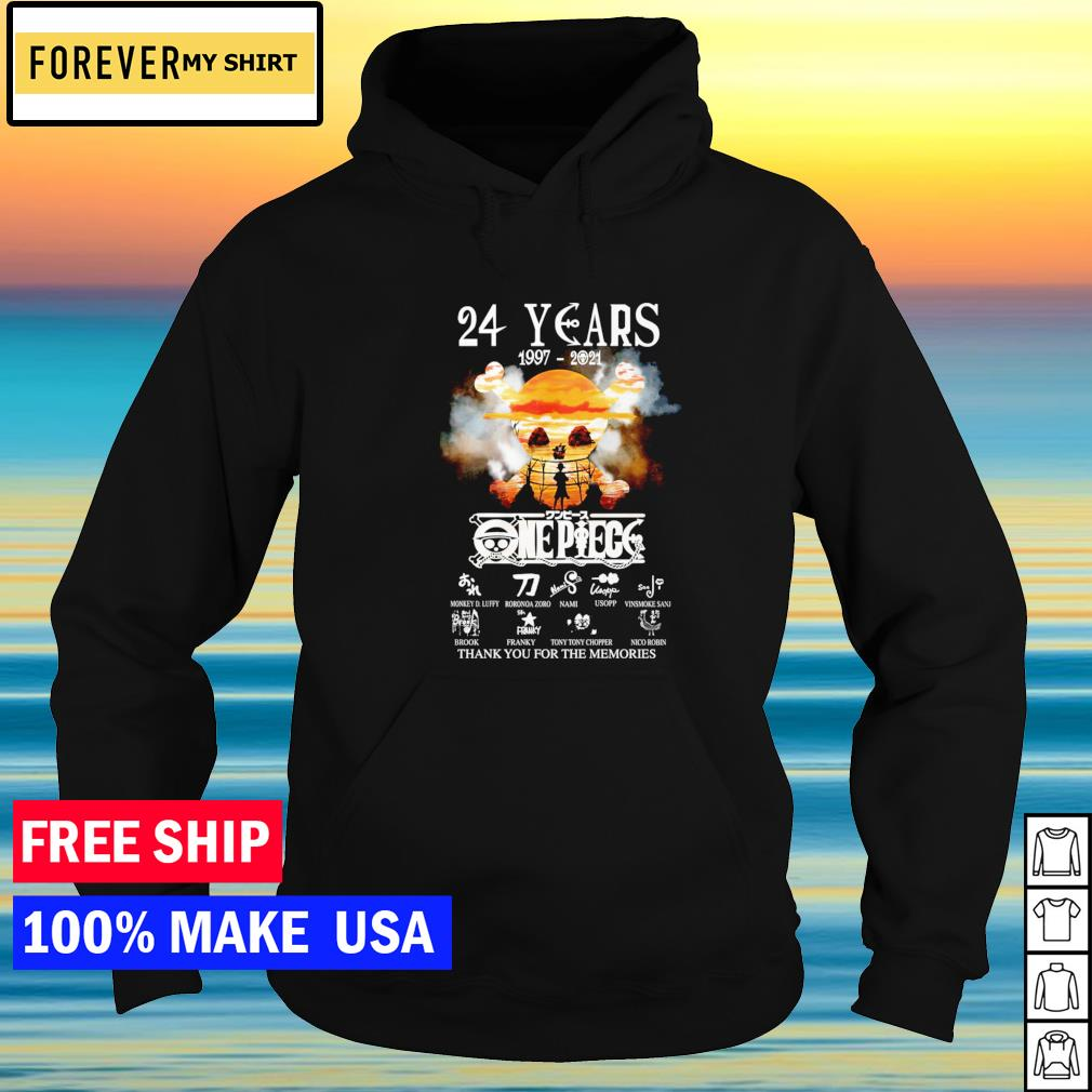 24 years of One Piece thank you for the memories signature s hoodie