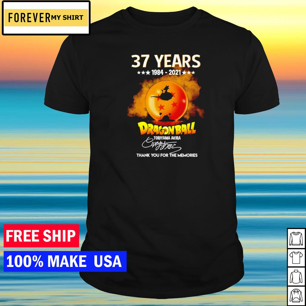 37 years of Dragon Ball Toriyama Akira thank you for the memories signature shirt