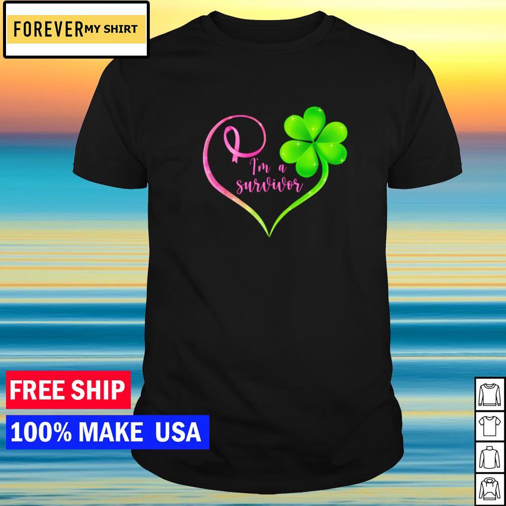 Breast cancer I'm a survivor happy St Patrick's Day shirt