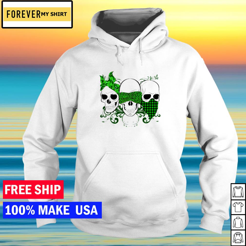 Death skull happy St Patrick's Day s hoodie