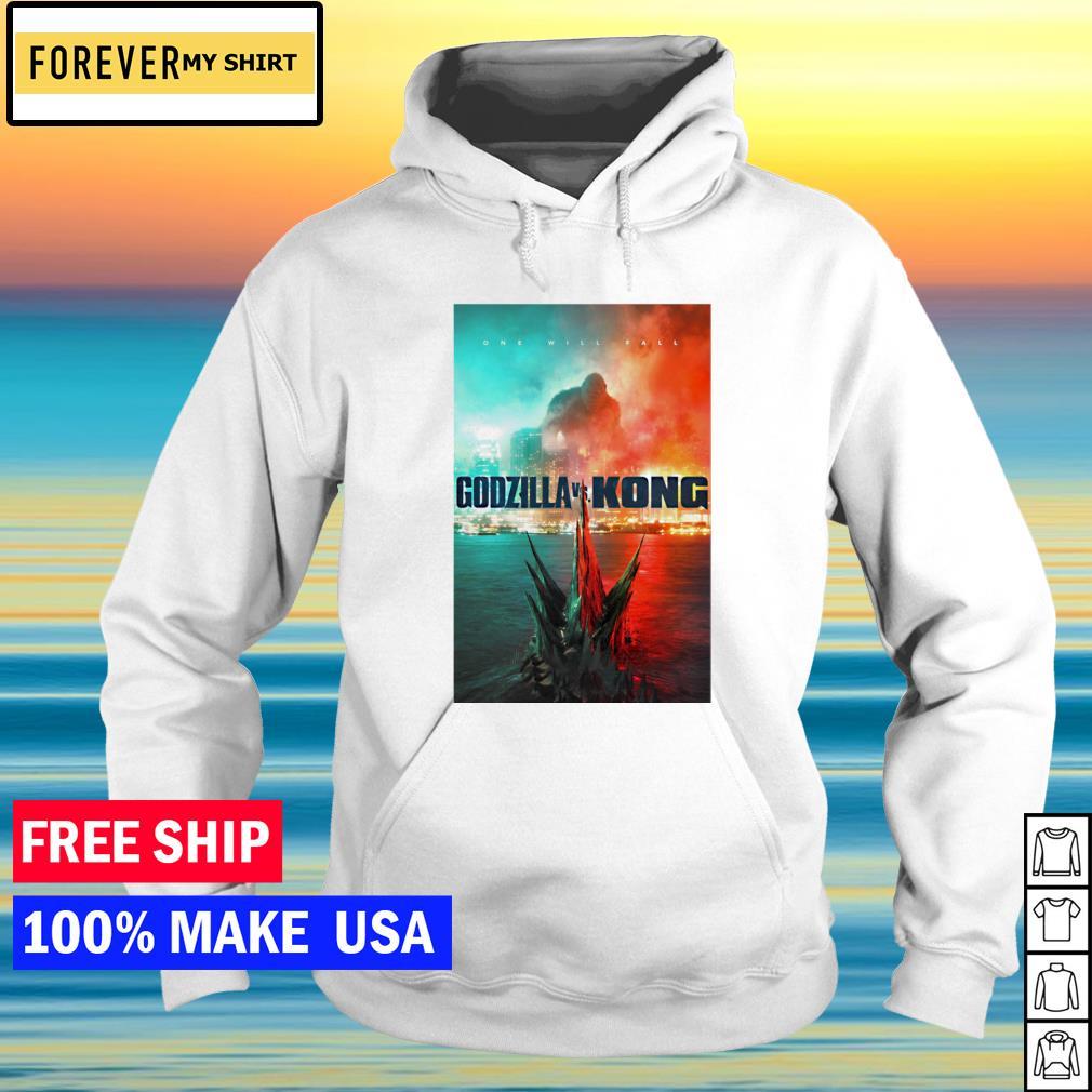 Godzilla vs Kong one will fall s hoodie