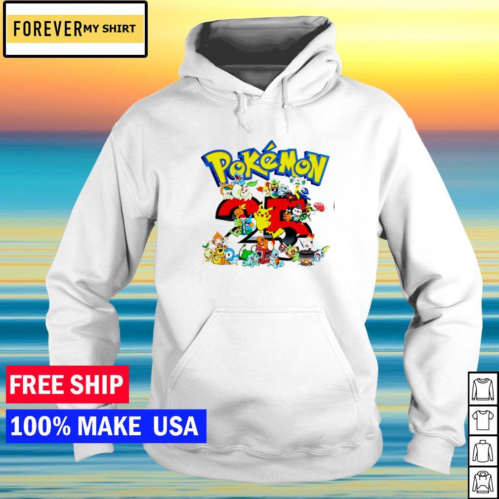 Happy 25th anniversary of Pokemon s hoodie