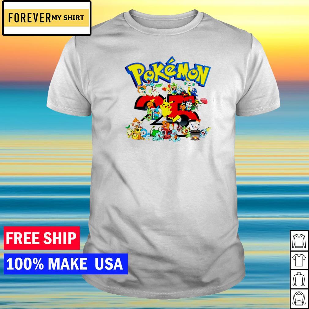 Happy 25th anniversary of Pokemon shirt