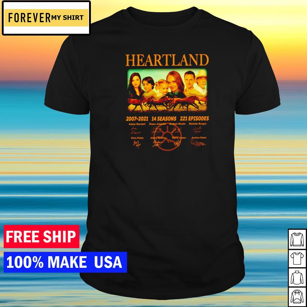 Heartland 2007-2021 14 seasons 221 episodes signature shirt