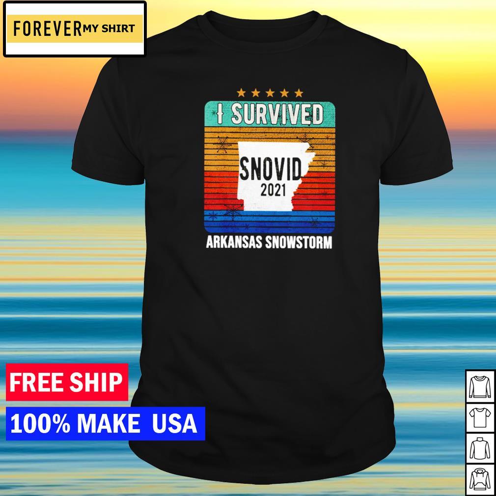 I survived snovid 2021 Arkansas snowstorm shirt