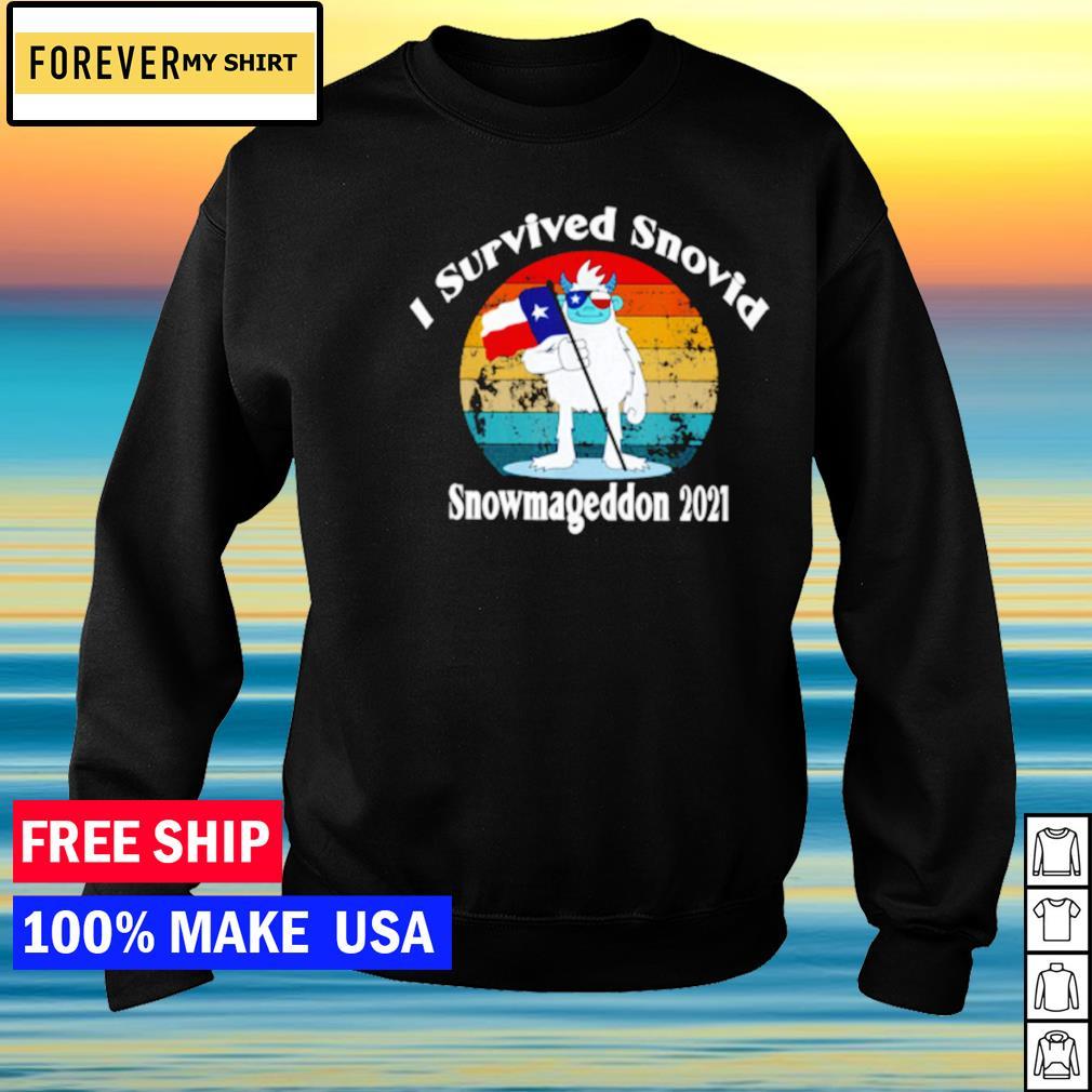 I survived Snovid snowmageddon 2021 vintage covid s sweater