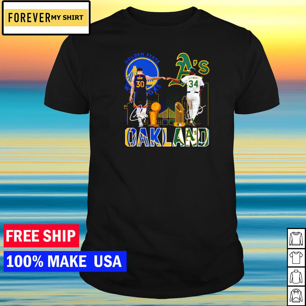 Oakland Athletics and Golden State Warriors champion signature shirt