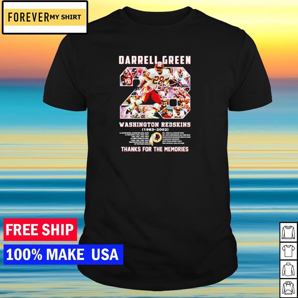 Darrell Green Washington Redskins 1983-2020 thank for the memories signature shirt