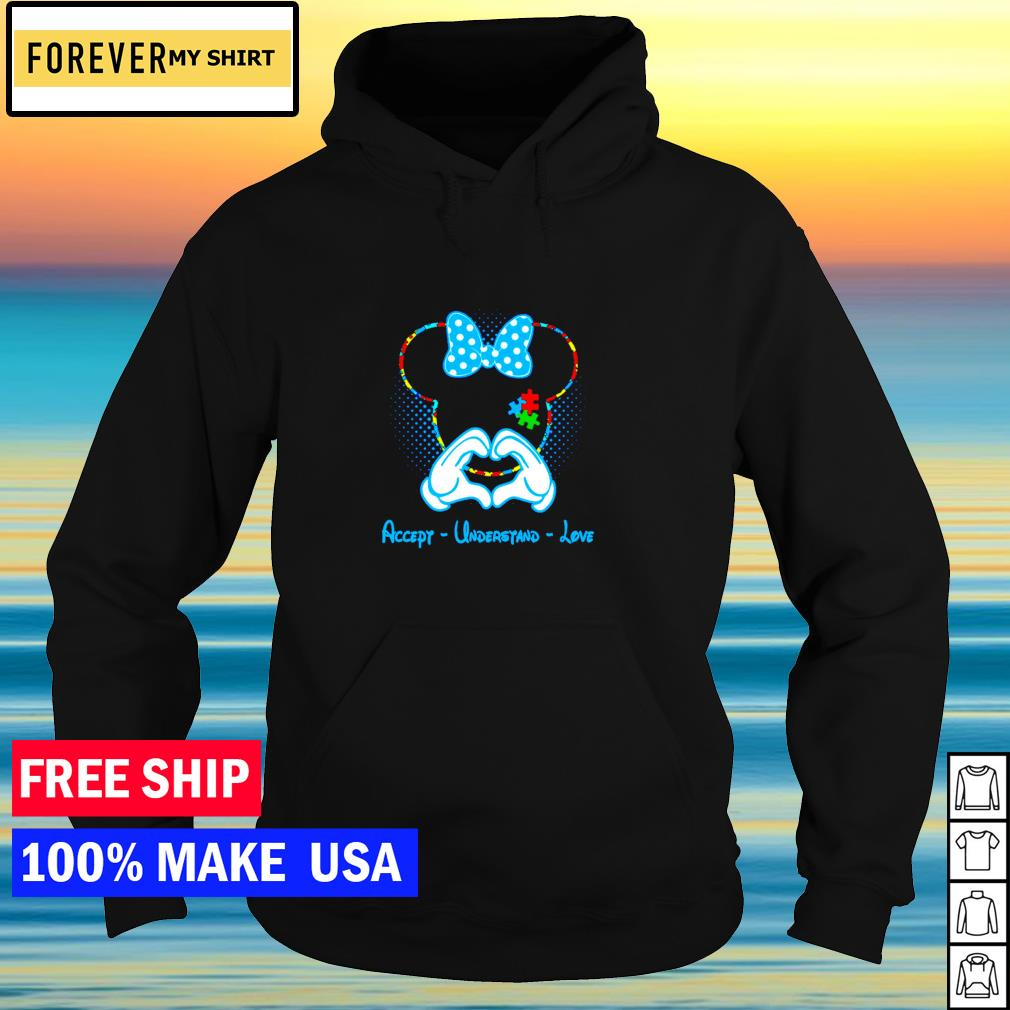 Disney Minnie Mouse accept understand love autism awareness s hoodie