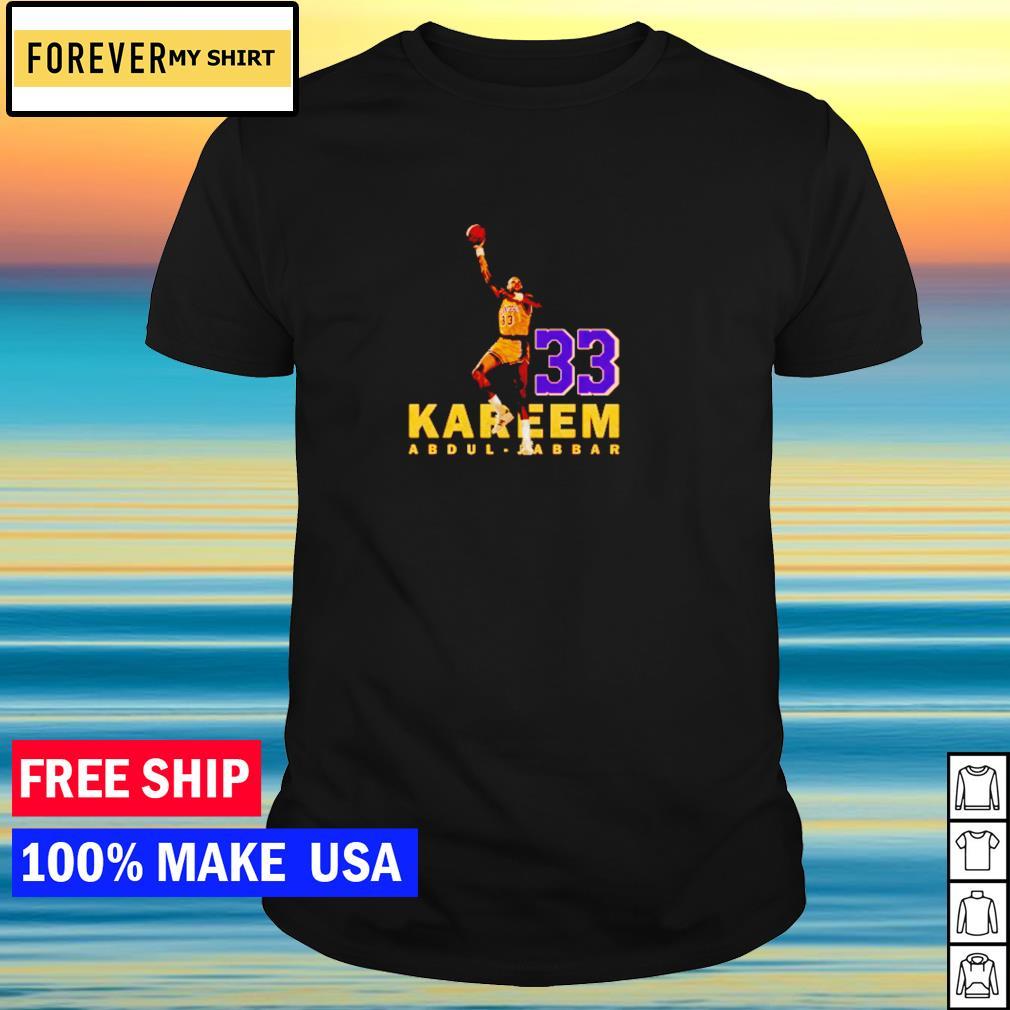 Kareem Abdul-Jabbar Los Angeles Lakers number 33 shirt