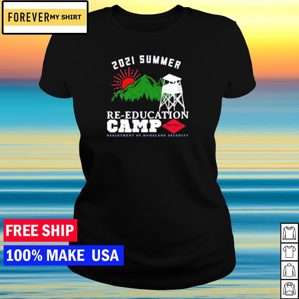 2021 Summer Re-education Camp s ladies tee
