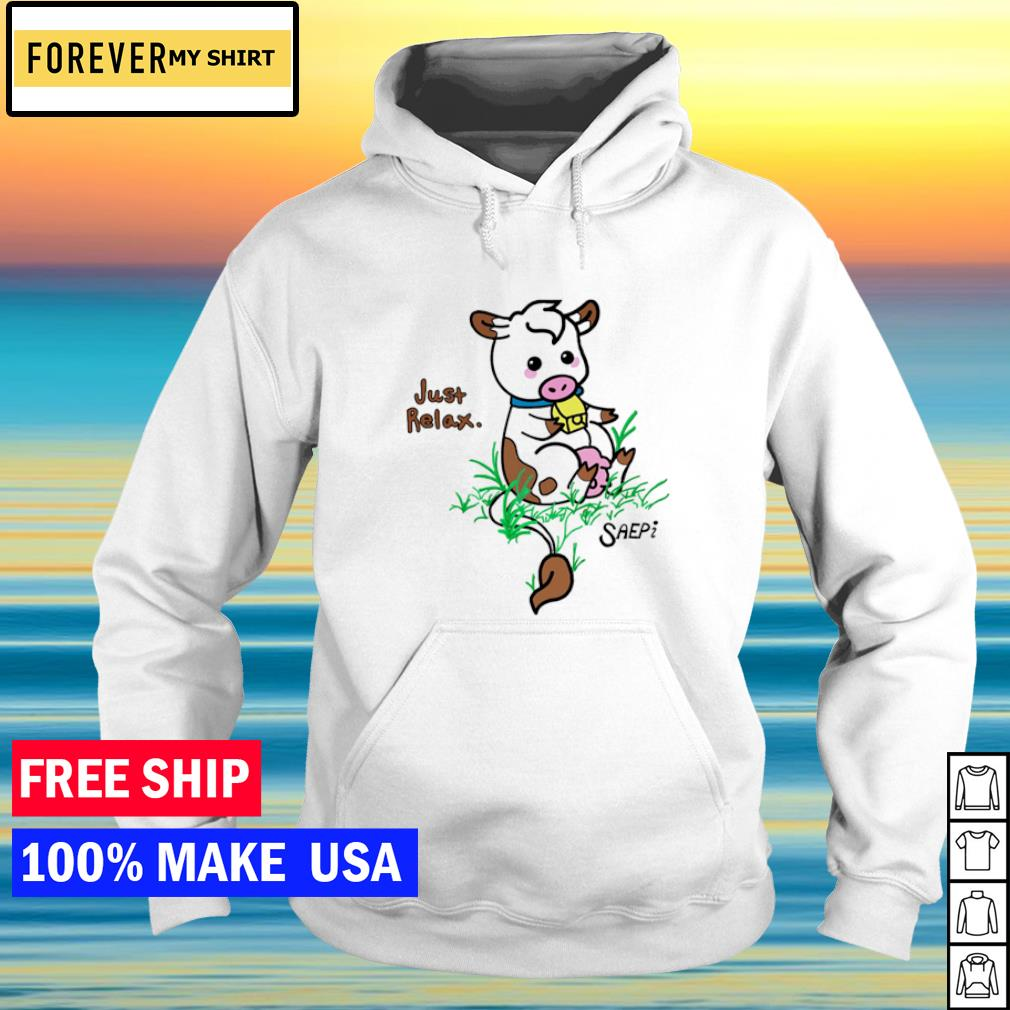 Philanthropy Cow just relax s hoodie