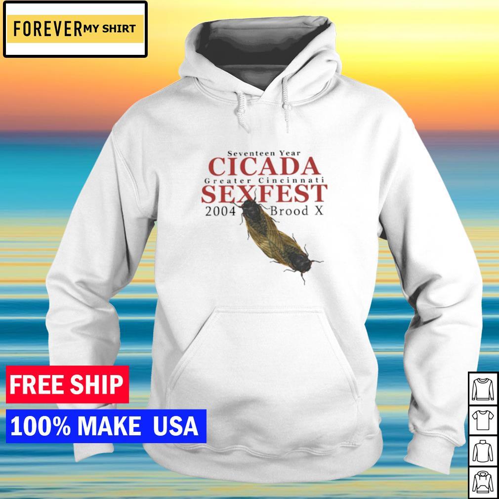 Seventeen year cicada greater cincinnati sexfest 2004 broodd x s hoodie