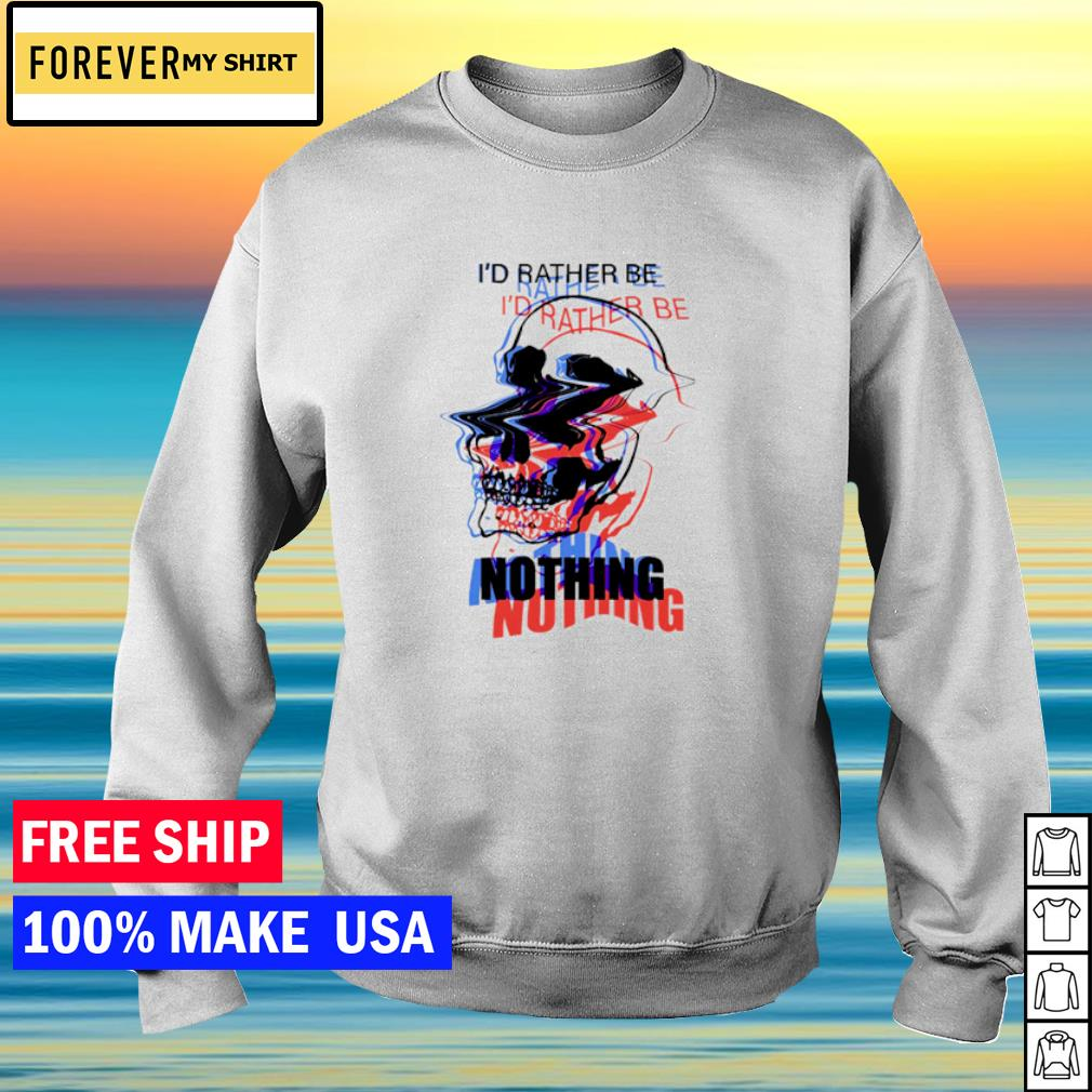 Skull I'd rather be nothing s sweater