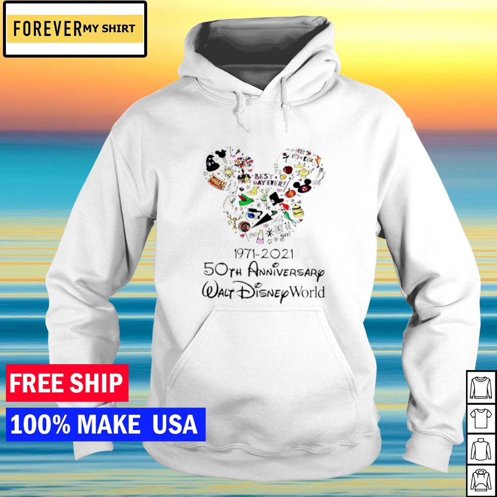 Mickey mouse Disney 1971 2021 50th anniversary walt Disney world s hoodie