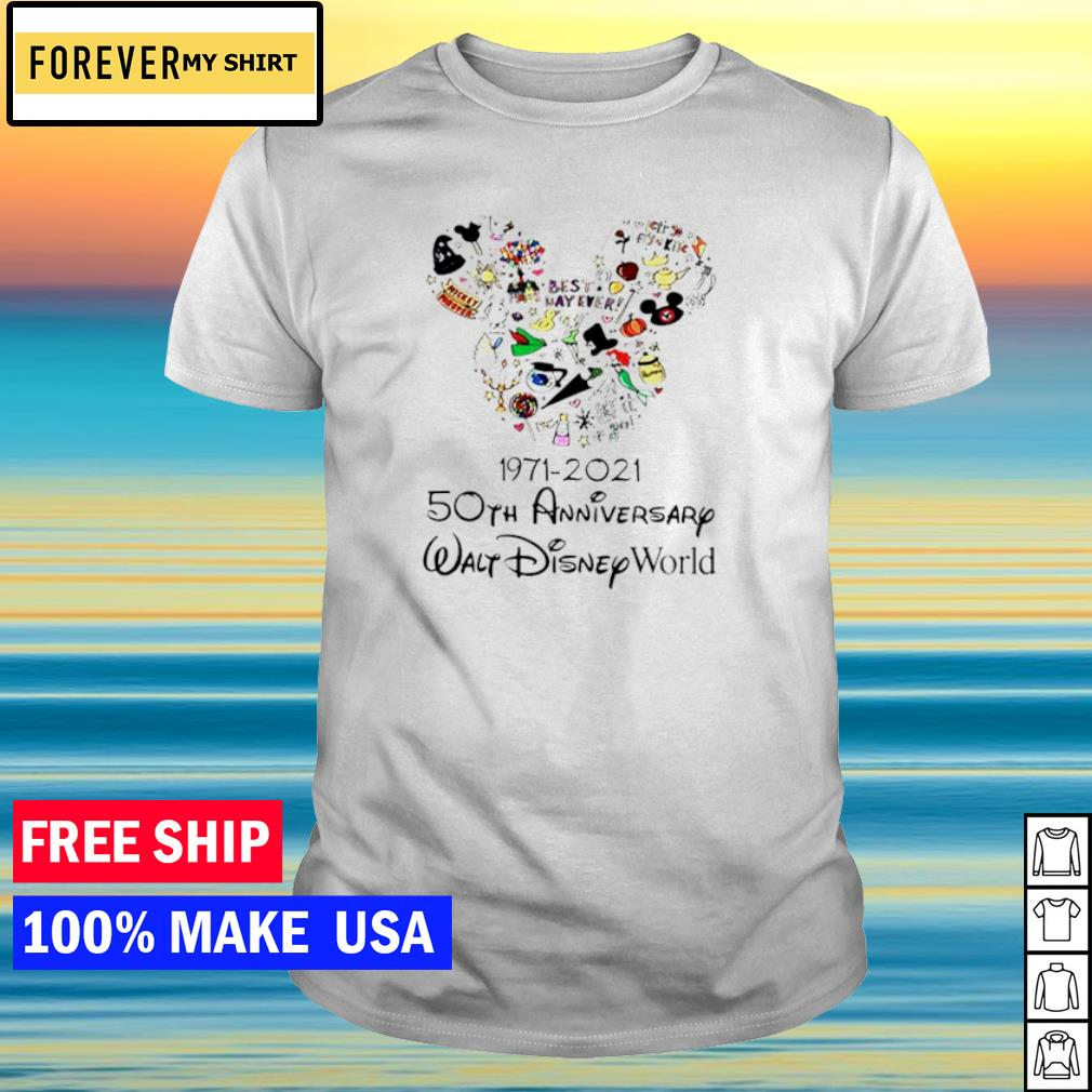 Mickey mouse Disney 1971 2021 50th anniversary walt Disney world shirt