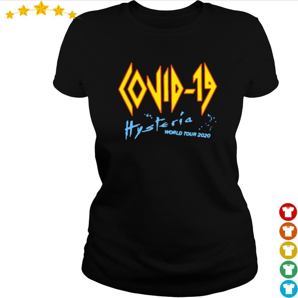 Coronavirus Covid-19 Hysteria world tour 2020 s ladies-tee