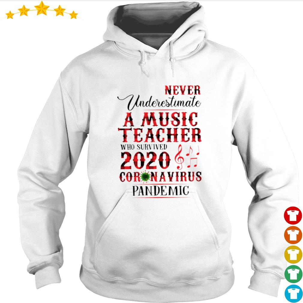 Never Underestimate A Music Teacher who survived 2020 Coronavirus pandemic s hoodie