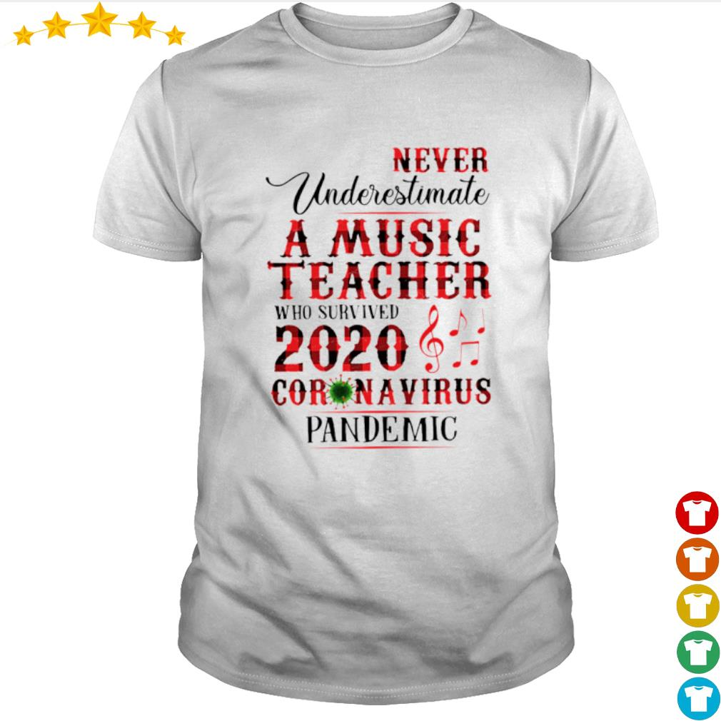 Never Underestimate A Music Teacher who survived 2020 Coronavirus pandemic shirt