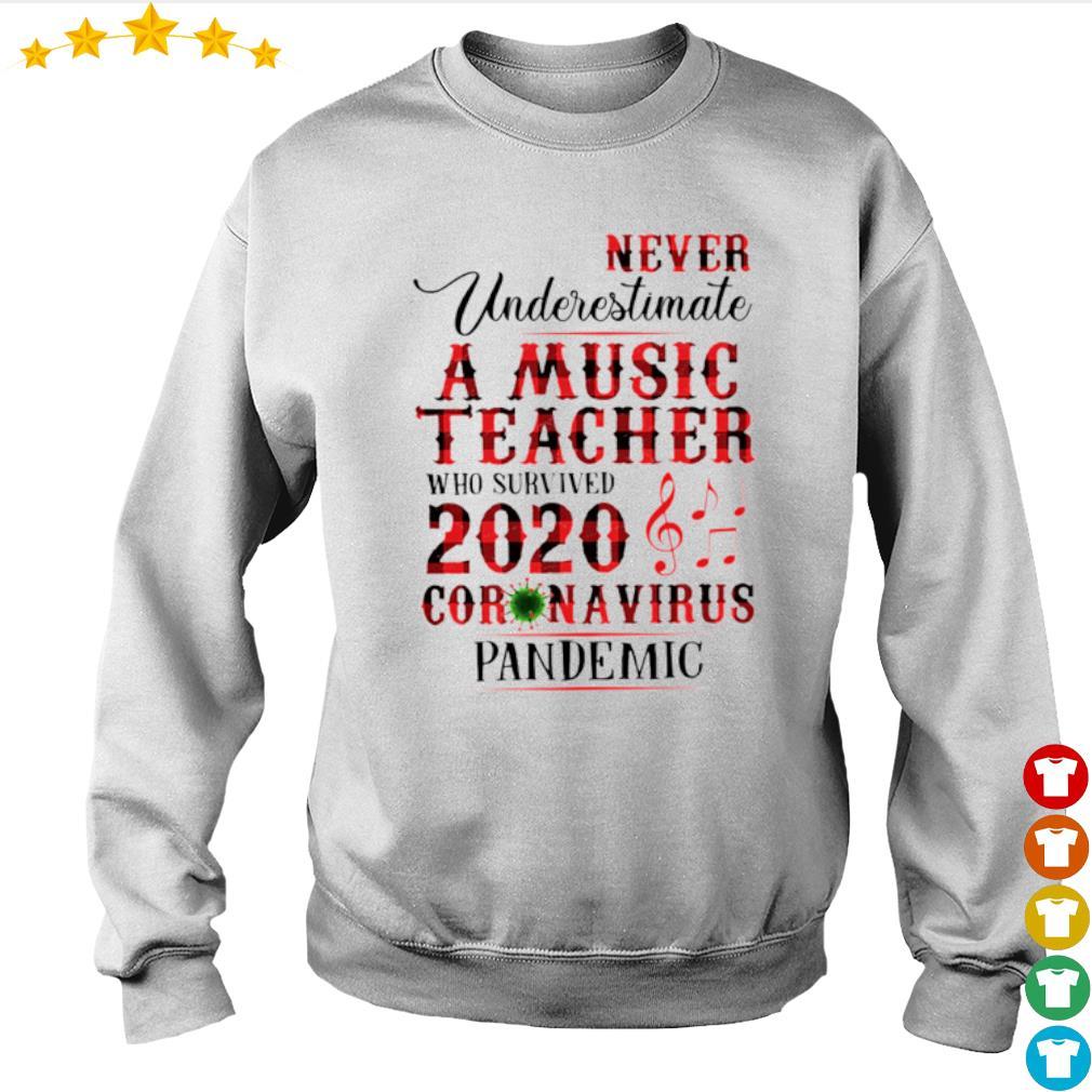 Never Underestimate A Music Teacher who survived 2020 Coronavirus pandemic s sweater