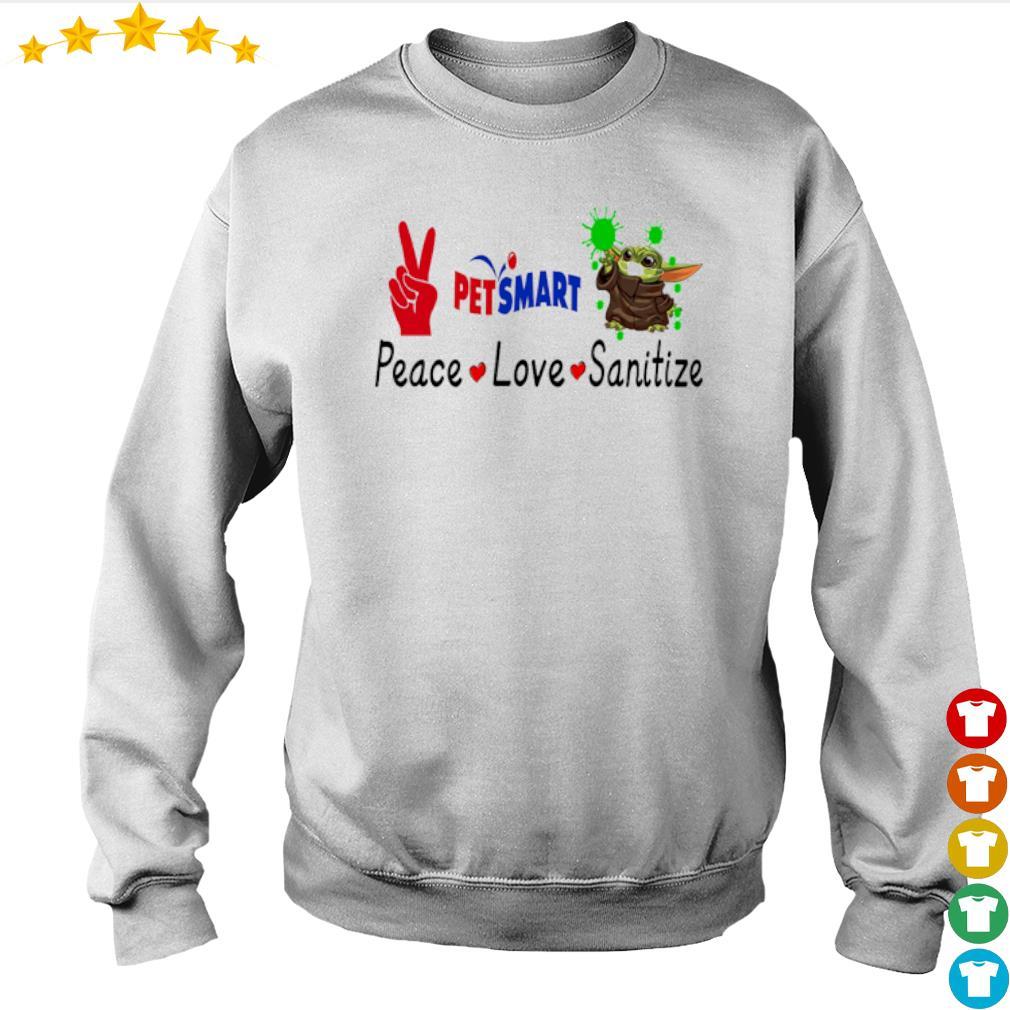 Peace love Sanitize Petsmart Baby Yoda s sweater