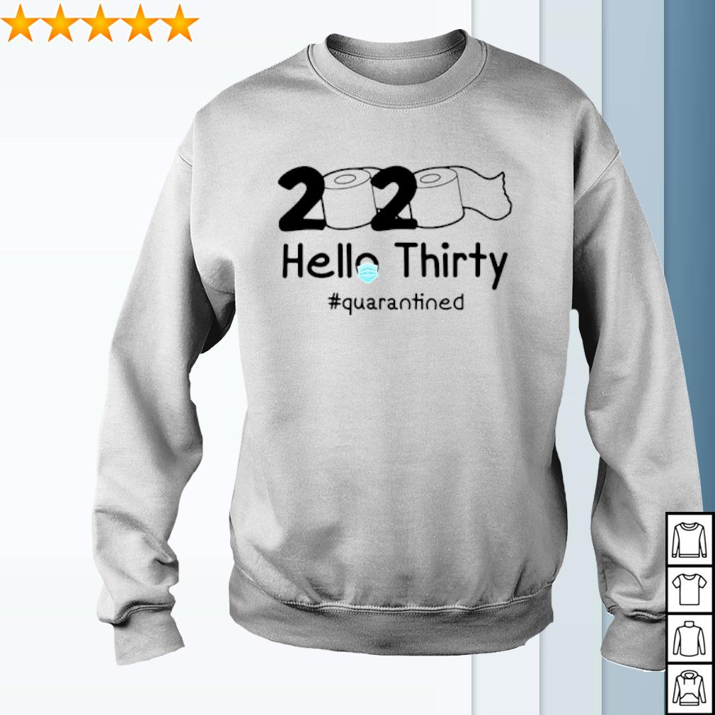 2020 Hello Thirty quarantined Toilet Paper s sweater