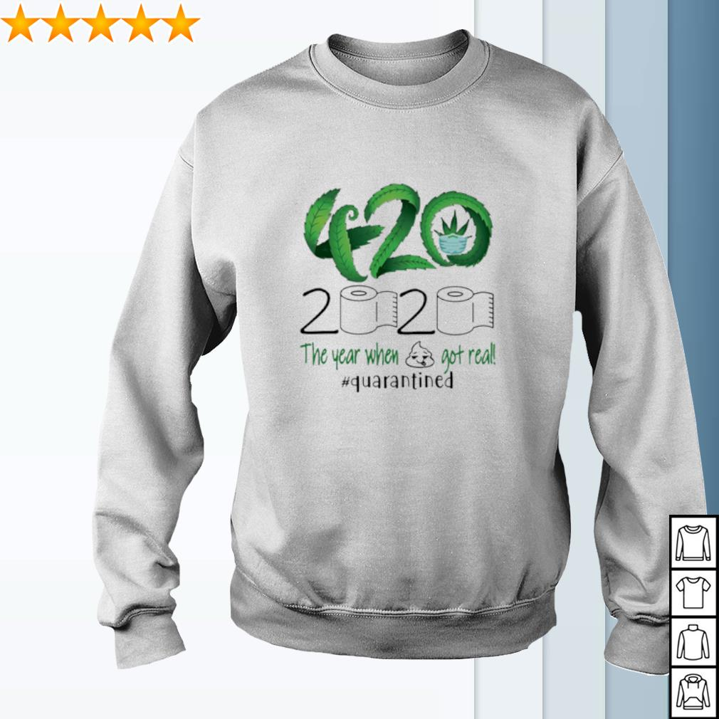 420 Stoner 2020 the year when shit got real quarantined weed s sweater
