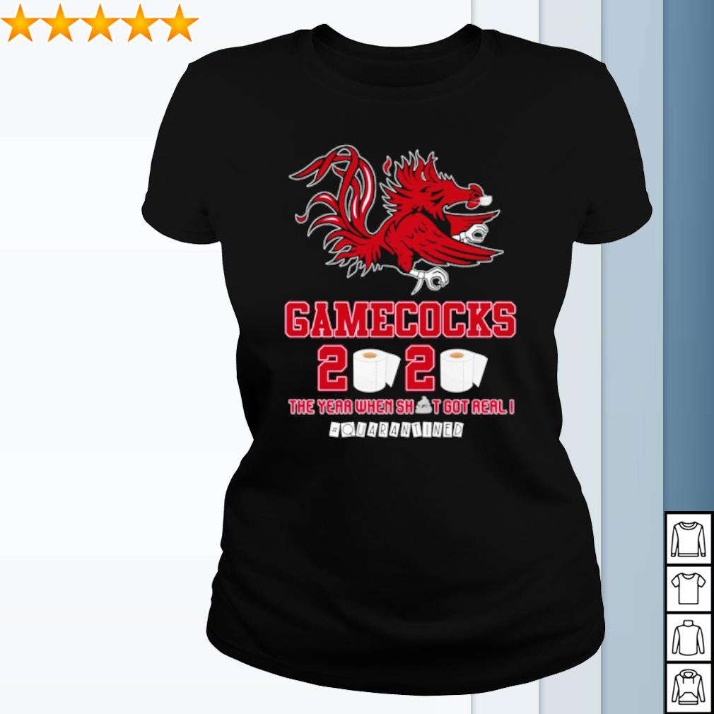 South Carolina Gamecocks toilet paper 2020 the year when shit got real quarantined s ladies-tee