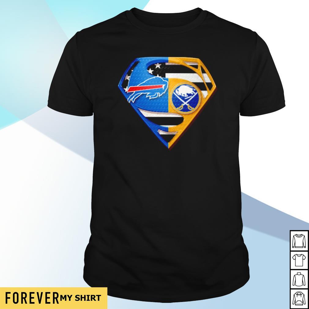Superman Buffalo Bills and Buffalo Sabres shirt