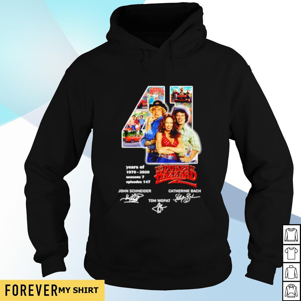 41 years of Dukes Hazzard 1979 2020 signature s hoodie