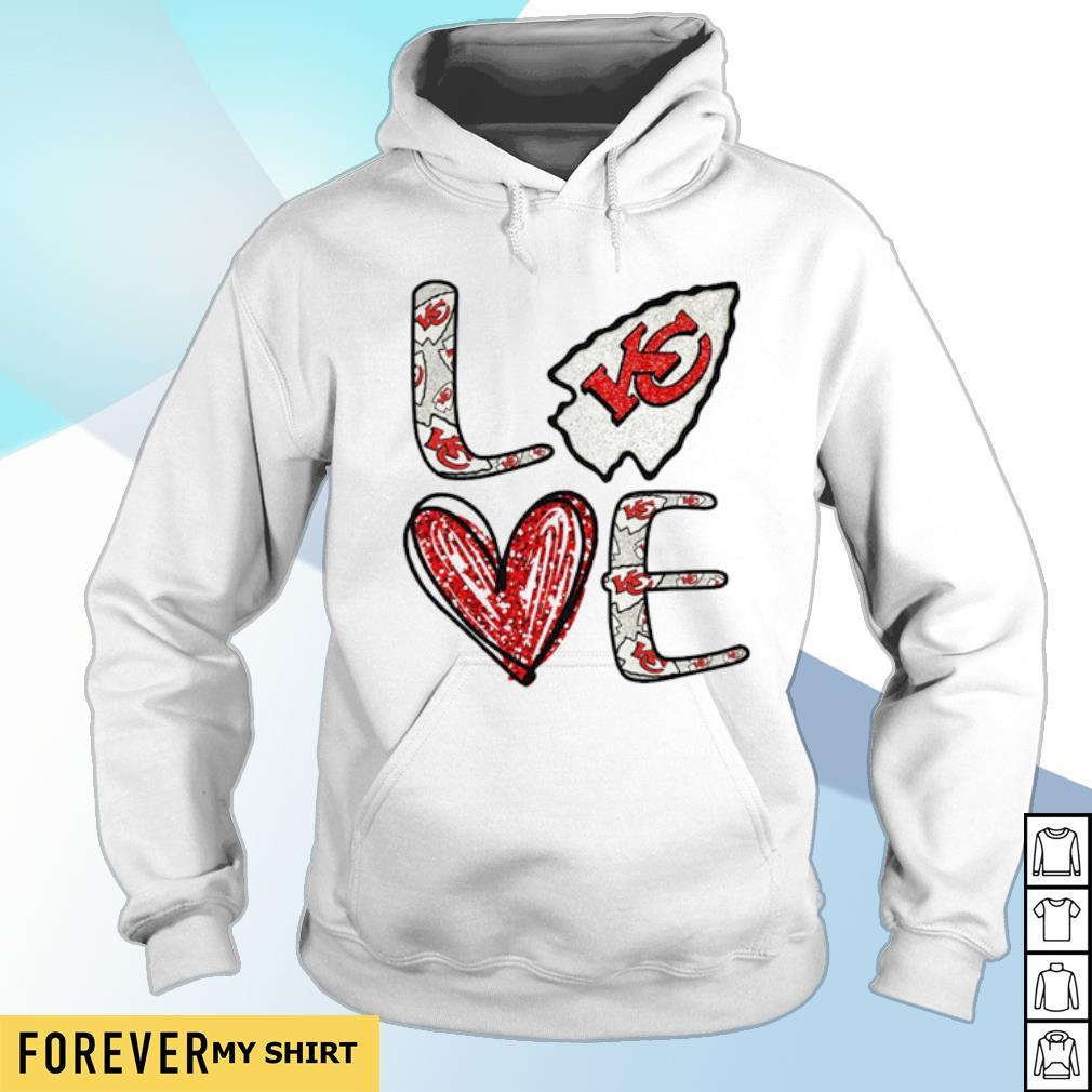 Heart love Kansas City Chiefs s hoodie
