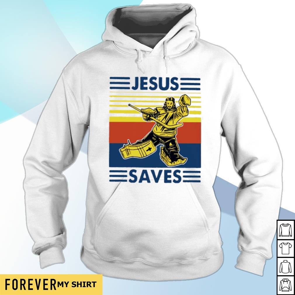 Jesus saves hockey vintage s hoodie