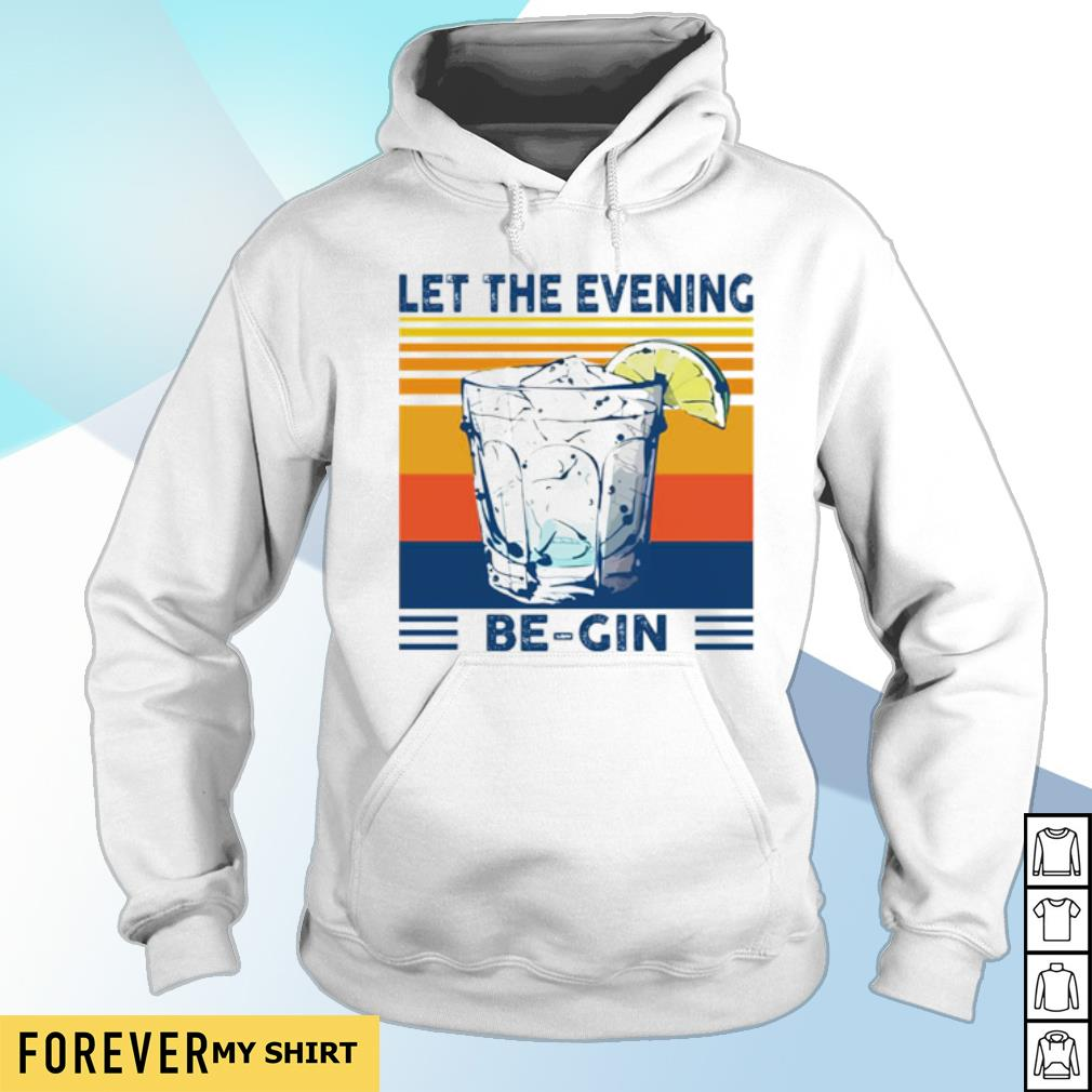 Martini cocktail Let the evening be gin s hoodie
