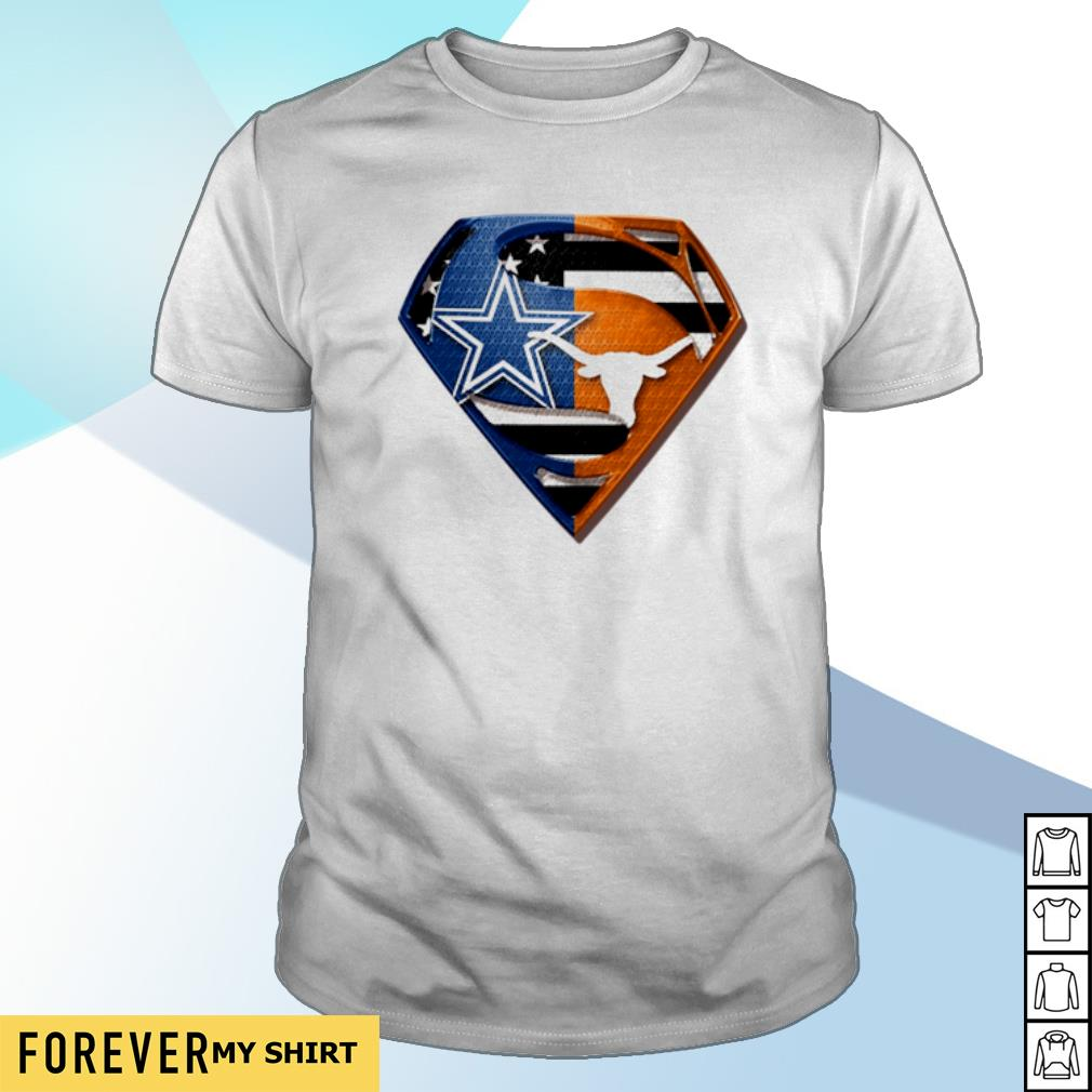Superman Dallas Cowboys And Texas Longhorns shirt
