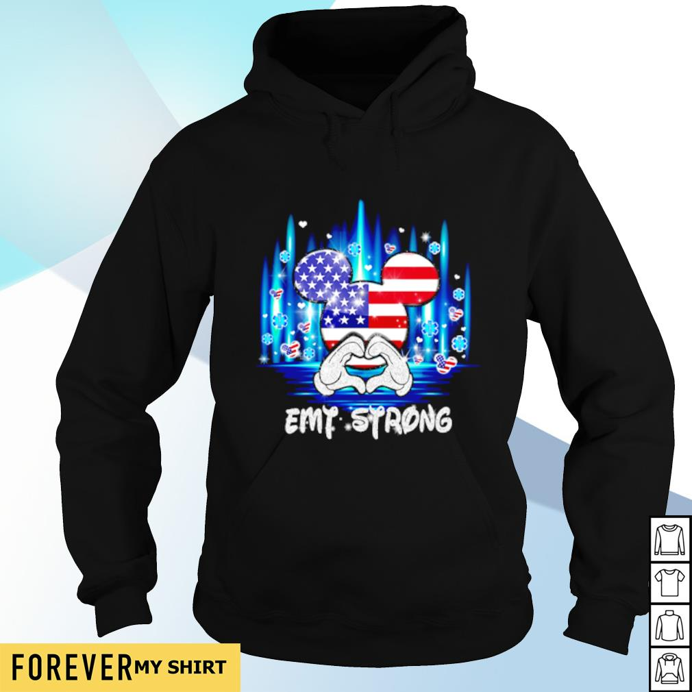 4th of July Mickey mouse EMT strong s hoodie