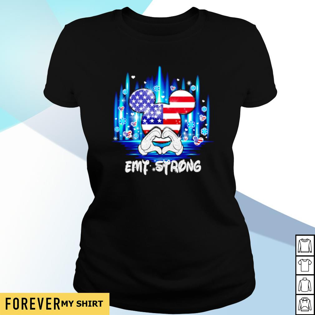 4th of July Mickey mouse EMT strong s ladies-tee