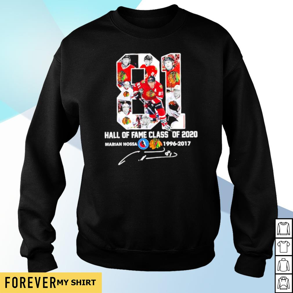 81 hall of fame class of 2020 Marian Hossa 1996 2017 signature s sweater