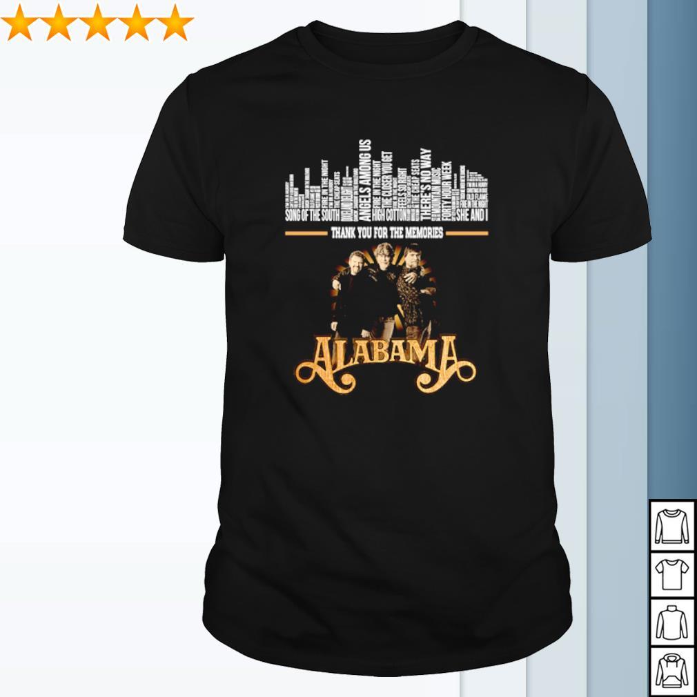 Alabama band thank you for the memories signature shirt