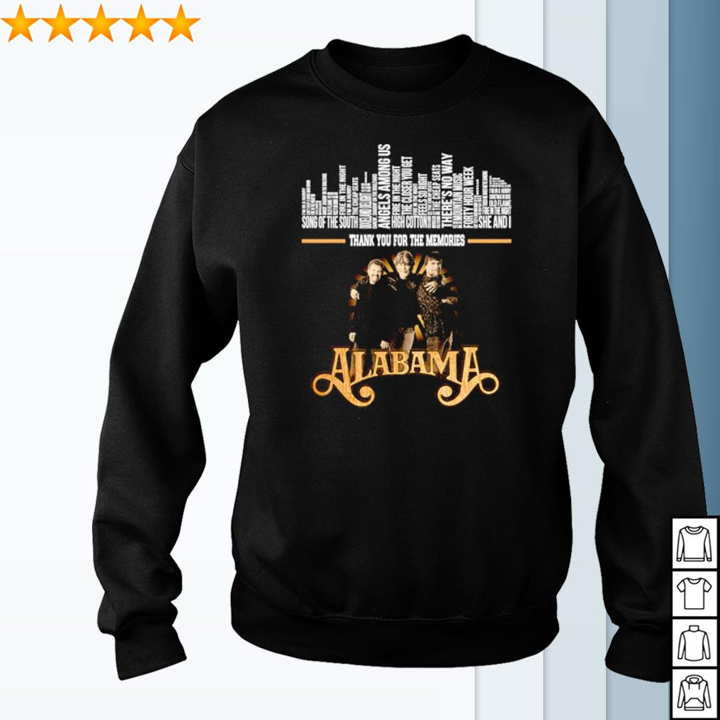 Alabama band thank you for the memories signature s sweater