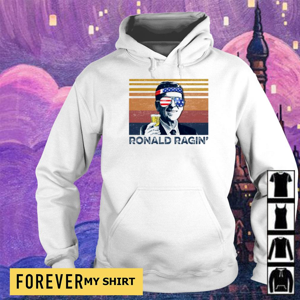 American Flag Ronald Ragin' vintage s hoodie