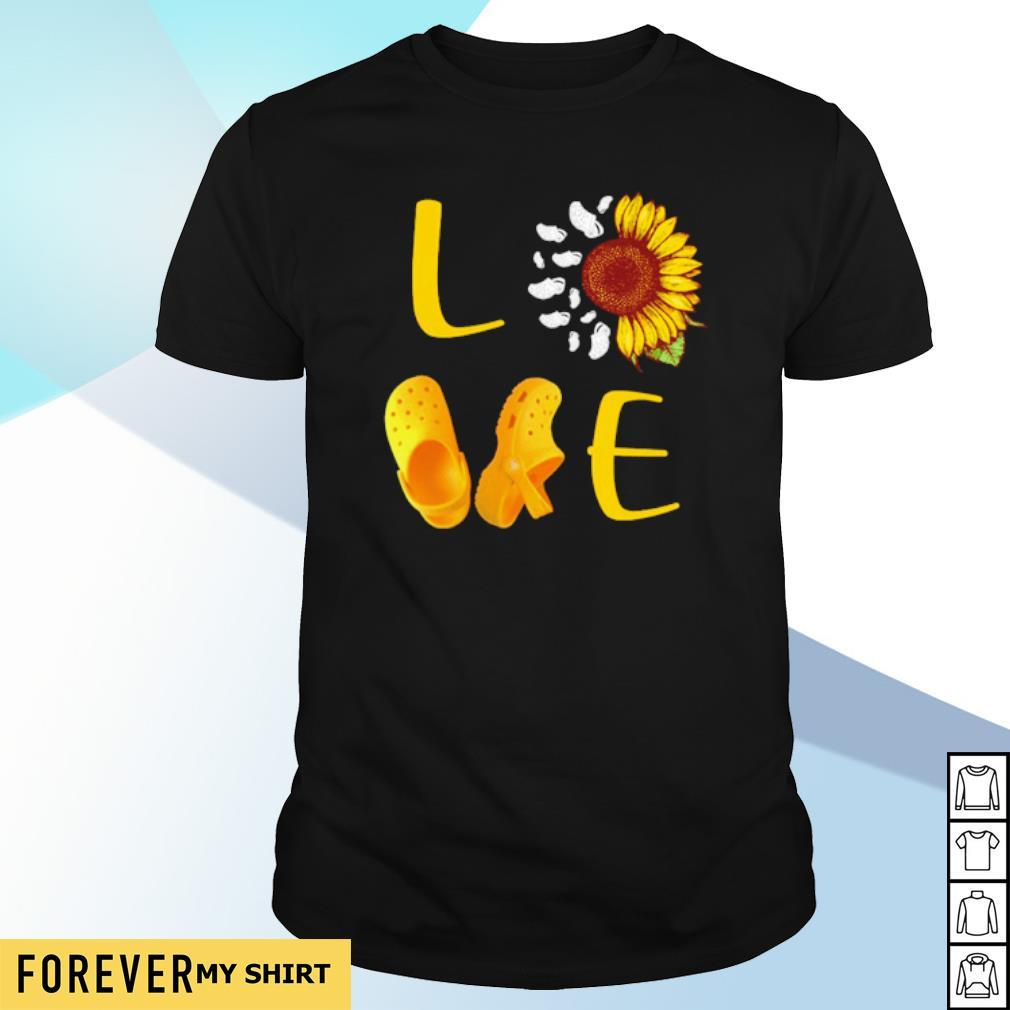 Crocs love Sunflower shirt