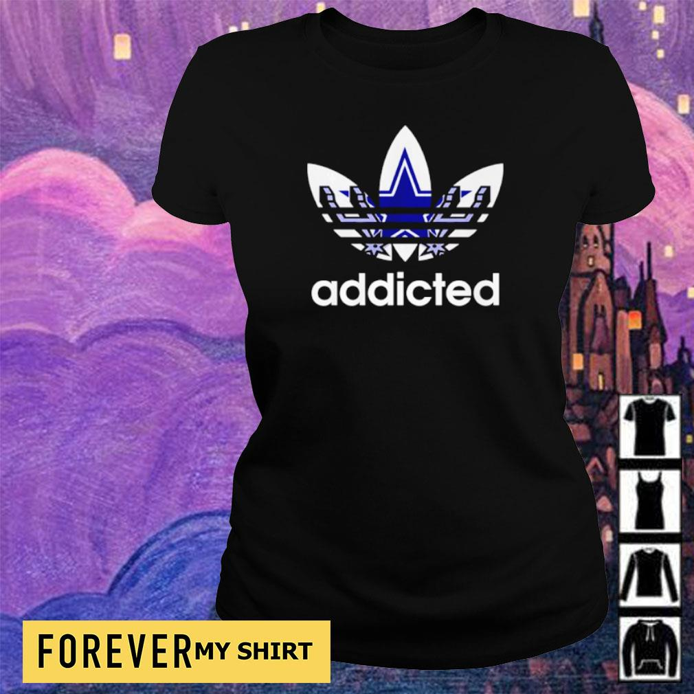Dallas Cowboys Adidas addicted s ladies tee