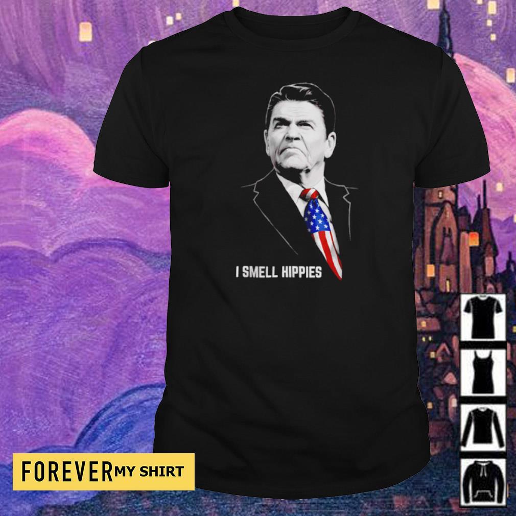 I smell Hippies Ronald Reagan America USA shirt