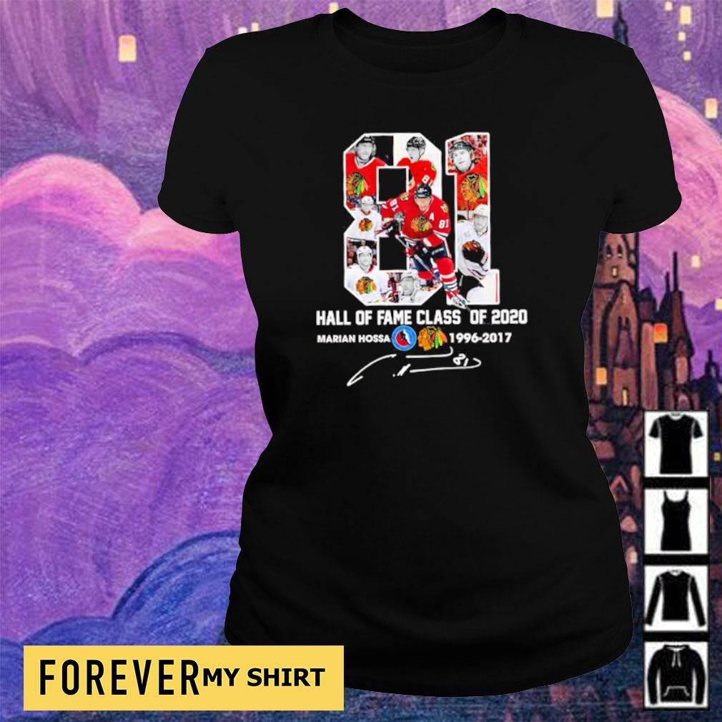 Marian Hossa hall of fame class of 2020 1996 2019 s ladies tee