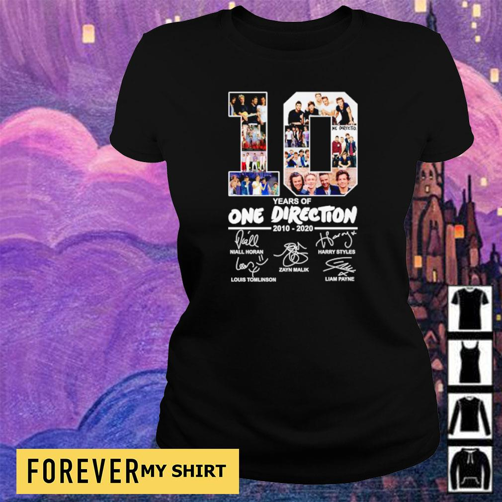 10 years of One Direction 2010 2020 signatures s ladies tee