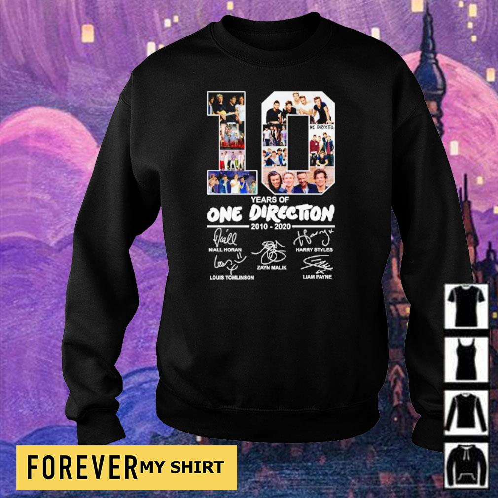 10 years of One Direction 2010 2020 signatures s sweater