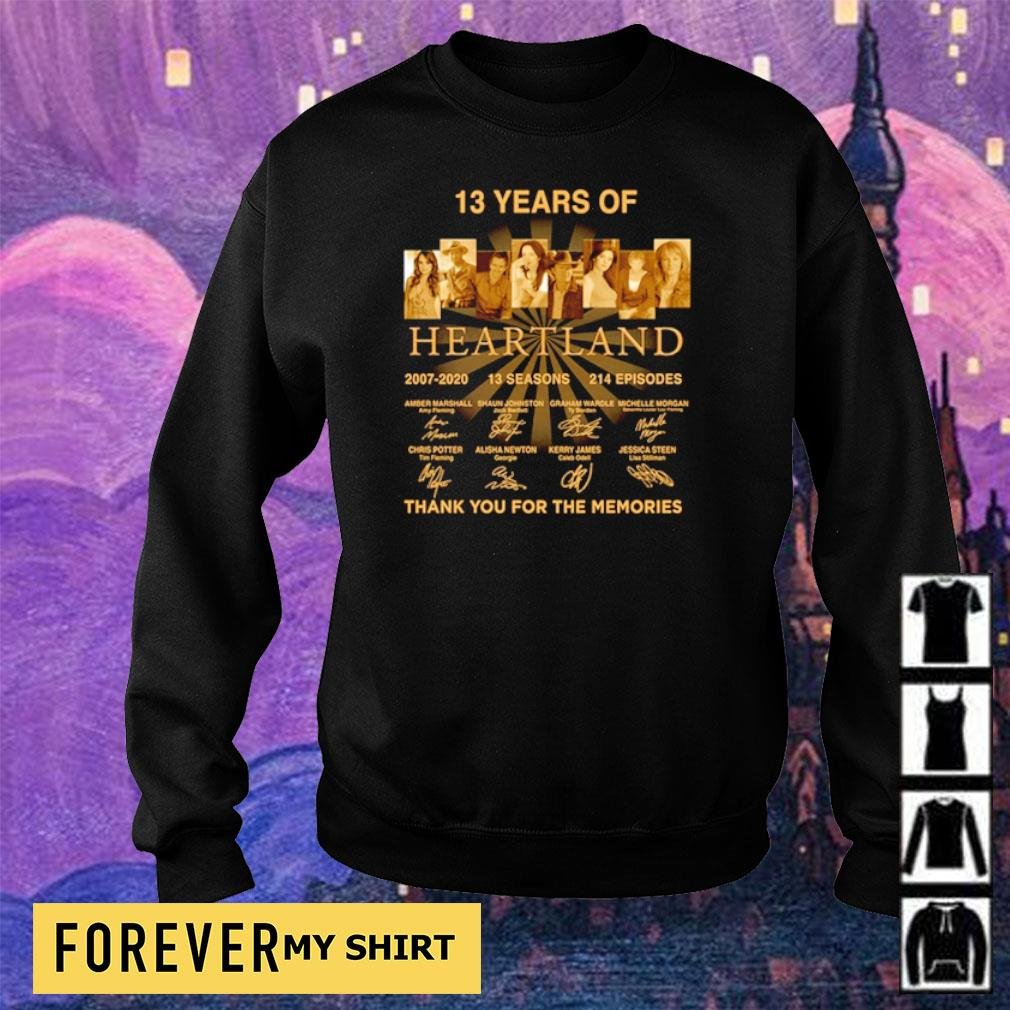 13 years of Heart Land thank you for the memories signature s sweater