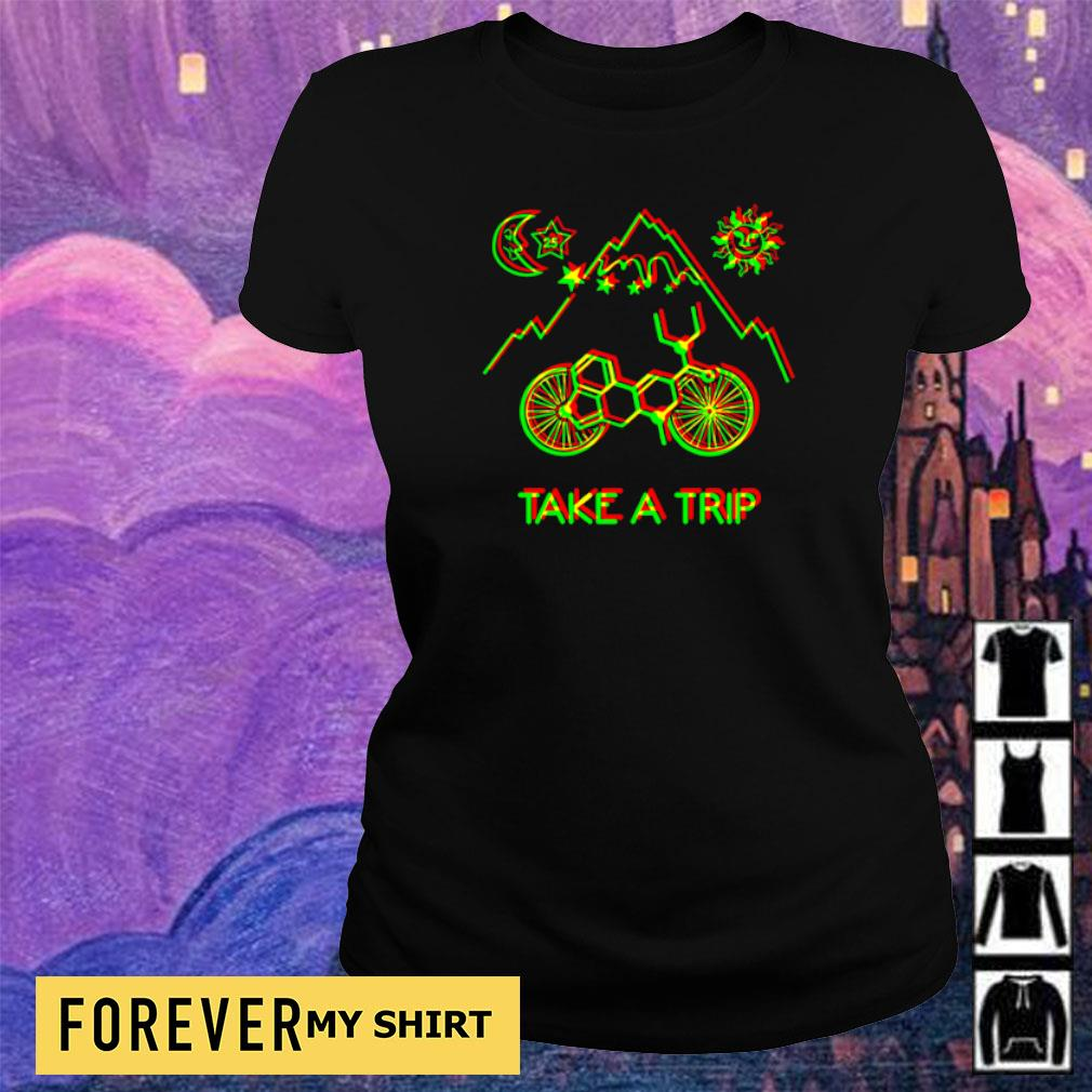 1943 Hofmann Bicycle Day Take A Trip s ladies tee