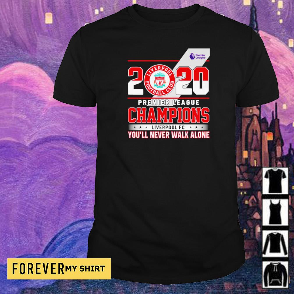 2020 Premier League Champions Liverpool FC you'll never walk alone shirt