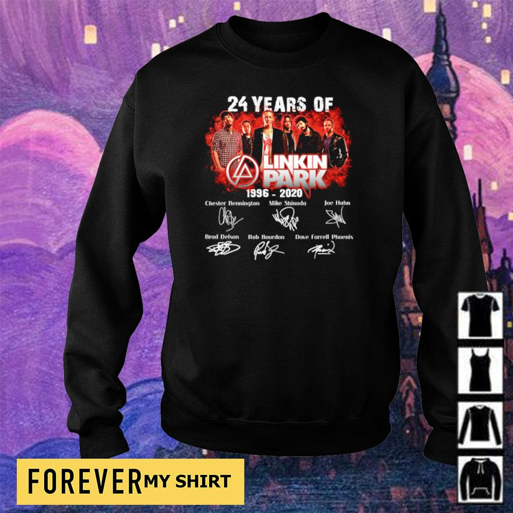 24 years of Linkin Park 1996 2020 signature s sweater